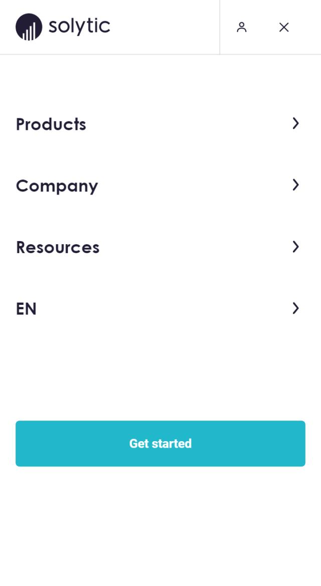 solytic menu phone screen